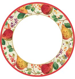 Caspari Holiday Paper Dinner Plates 8pk 12100DP Decorated Pears
