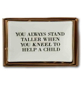 Mud Pie Teacher Tray Decopage Style w Quote 4x6 inch 4225008K Mud Pie Gifts