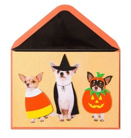 Papyrus Greetings Halloween Card Chihuahuas in Costume Scary by Papyrus