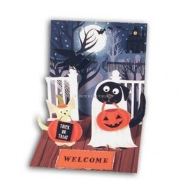 Halloween Pop-Up Greeting Card PS-766 Dogs in Costume