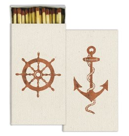 HomArt California Design House Decorative Match Box Anchor Ship Wheel