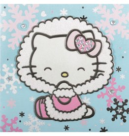 Papyrus Greetings Christmas Card Hello Kitty and Snowflakes by Papyrus