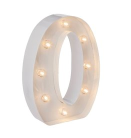 Darice LED Light Up Marquee Letter O 5915-792 White Metal