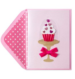 Papyrus Greetings Valentines Day Card Cupcake in Mini Stand by Papyrus