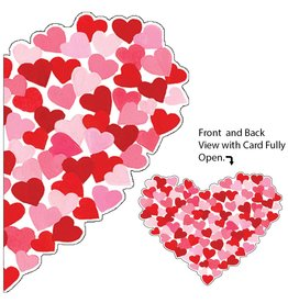 Caspari Valentine's Day Card 86400.14 Heart of Hearts Valentine Card