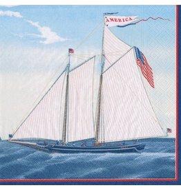 Caspari Paper Cocktail Napkins 20ct 13050C Maritime Sailing Boat