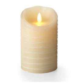 Luminara Flameless Candle Ivory w Spun Glitter 3.5x5 Inch Unscented by Luminara