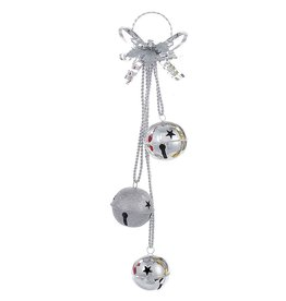 Kurt Adler Silver Jingle Bell Door Hanger Door Decoration  Christmas