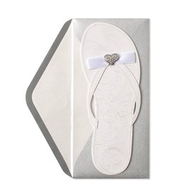Papyrus Greetings Wedding Shower Card Flip Flop by Papyrus