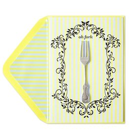 Papyrus Greetings Belated Birthday Card Oh Fork by Papyrus