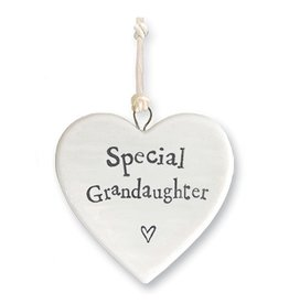 East of India Porcelain Heart Ornament 4182 Special Granddaughter
