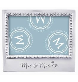 Mariposa Engraved 4x6 Frame Lesbian Wedding Gift Mrs and Mrs