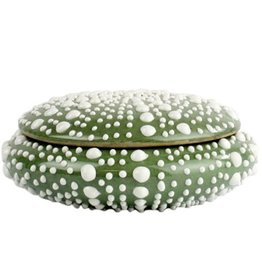 HomArt California Design House Decorative Sea Urchin Ceramic Bowl 5x2 Inches Seafoam