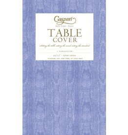 Caspari Caspari Table Covers Moire 9711TCP Lavender Blue Tablecover 54x84 inch