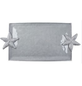Mariposa Seaside 2123-S Starfish Serving Tray Silver