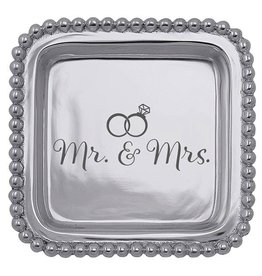 Mariposa Engraved Sentiment Tray Wedding Gift Mr and Mrs