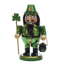Kurt Adler Wooden Irish Nutcracker 8 inch w Pot of Gold C5833 Kurt Adler
