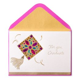 Papyrus Greetings Graduation Card Magenta Jeweled Grad Cap