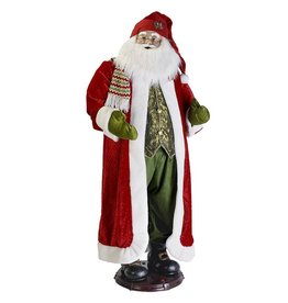 Kurt Adler Fabriche Santa 60 inch-5ft Large Life Size Animated Standing Santa