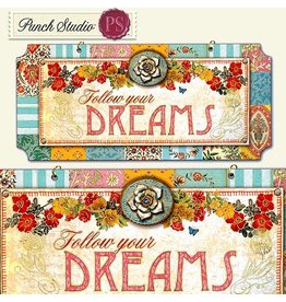 Punch Studio Inspirational Wall Plaque Follow Your Dreams Punch Studio