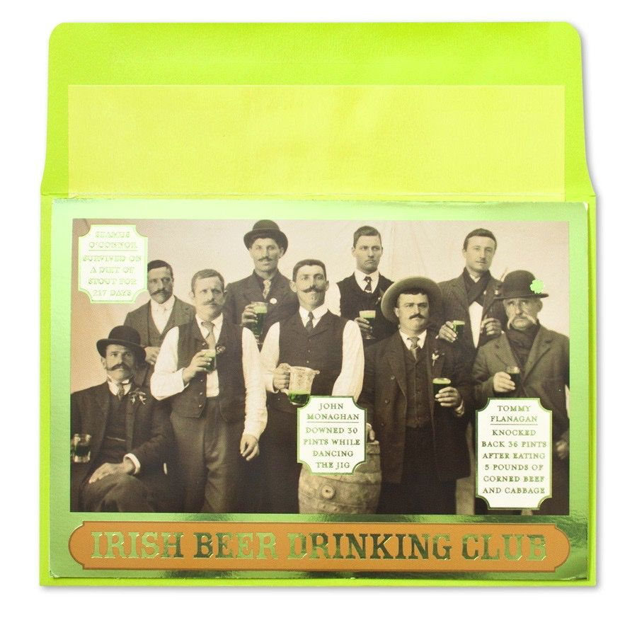 St Patricks Day Card Irish Drinking Club By Papyrus Digs N Gifts