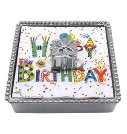 Mariposa Beaded Cocktail Napkin Box w Wieght 1609-C Birthday Present