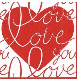 Caspari Paper Napkins Confetti Hearts Lunch Napkins 12280L