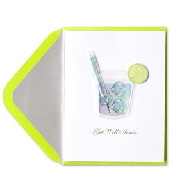 Papyrus Greetings Get Well Card Gin Tonic