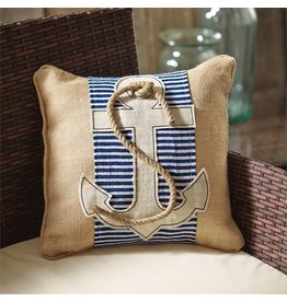 Mud Pie Anchor Pillow Wrap Slip Cover 37x7 Inch 4265224 Mud Pie