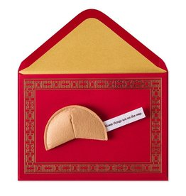 Papyrus Greetings Good Luck Card Felt Fortune Cookie