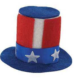 DM Merchandising Patriotic USA Uncle Sam Mini Hat Hair Clip - Blue Hat Base