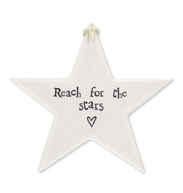 East of India Porcelain Star Ornament 4046 Reach For The Stars