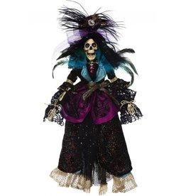 Mark Roberts Fairies Halloween Skeletons 51-68168 Mrs High LIfe Skeleton 21in