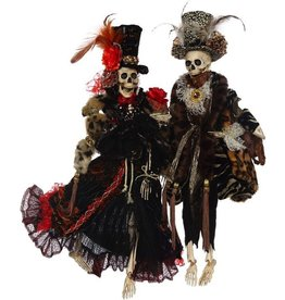 Mark Roberts Fairies Mark Roberts Halloween Skeletons 51-68172 Mr-Mrs Haute Couture 21 inch