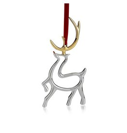 Nambe Christmas Ornament MT0772 Reindeer Silver-Gold Plated