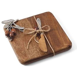 Mud Pie Small Olive Cutting Board Set w Spreader 4751038 Mud Pie Gifts