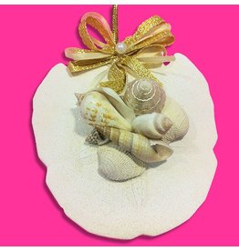 Treasures From The Sea Sand Dollar w Sea Shells Ornament TFTS-47