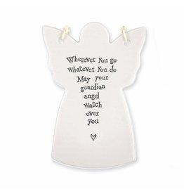 East of India Porcelain Angel Ornament 4048 Wherever you Go Whatever You Do