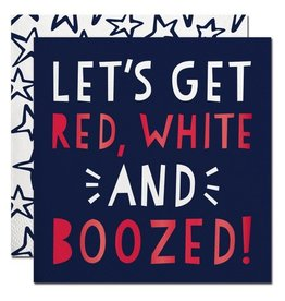 Slant Cocktail Napkins 20ct F160214 Red White and Boozed