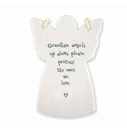 East of India Porcelain Angel Ornament 4047 Guardian Angels Up Above