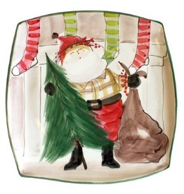 Vietri Old St. Nick Platter Limited Edition Signed OSN-7828F