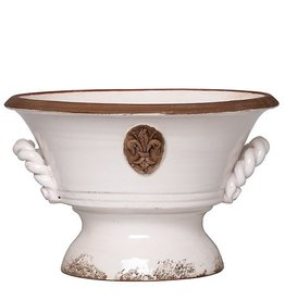 Vietri Rustic Garden Medium White Planter RGA-8948W