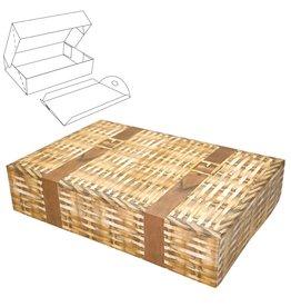 Caspari Paper Gift Box w Lift Out Tray Food Grade 2pk Hamper PFB114 Caspari