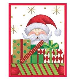 Caspari Christmas Gift Card Holders 4pk 9633ENC Santa w Packages