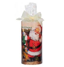 Kurt Adler Merry Christmas Candle w Image Santa w Stocking 6in T1738-B Kurt Adler
