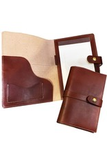 White Wing Label White Wing Leather Portfolio Medium 10x7 in Chestnut