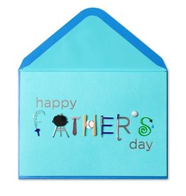Papyrus Greetings Fathers Day Card Handmade Typography by Papyrus