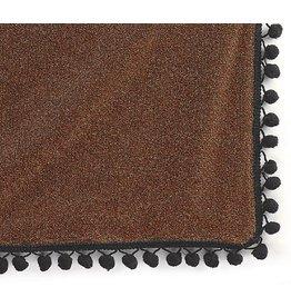 Burton and Burton Table Covers 9717154 Orange Shimmer Black Trim Tablecloth
