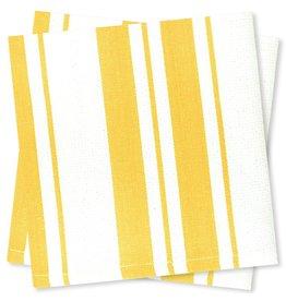 MUkitchen Cotton Stripe Basket Weave Dish Cloths 2Pk 6616-1513 Lemon