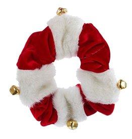 Kurt Adler Christmas Dog Collar Red White w Bells C4616-SM Small